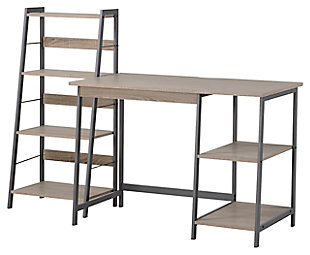2 Piece Laptop Desk and Four Shelf Bookcase, , rollover