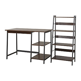 2 Piece Laptop Desk and Four Shelf Bookcase, , large