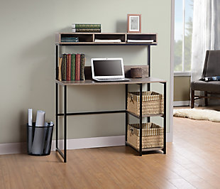 Laptop Desk with Three-cubby Hutch, , rollover