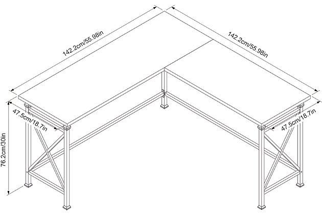L Shaped Corner Desk, , large