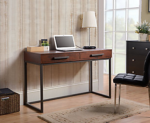 Computer Desk with Two Drawers, , rollover
