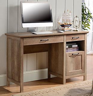 Three Drawer Computer Desk, , rollover