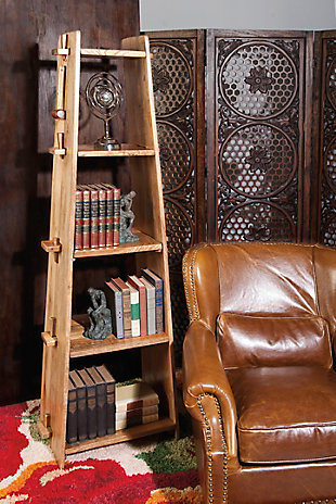 4 Shelf Wood Bookcase, , rollover