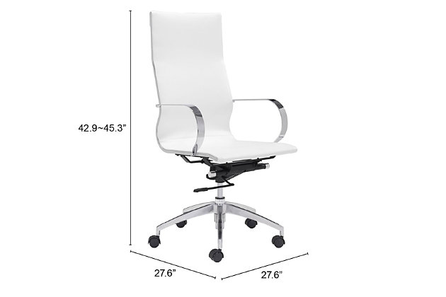 High Back Glider Home Office Chair, , large