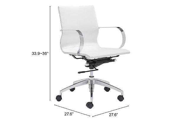 Low Back Glider Home Office Chair, , large