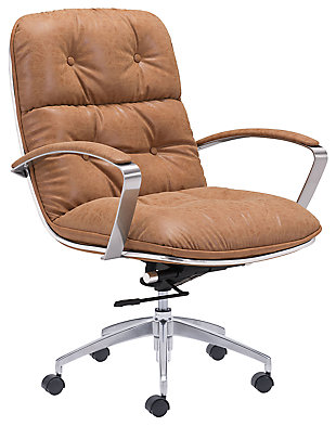 Tufted Button Home Office Chair, , large