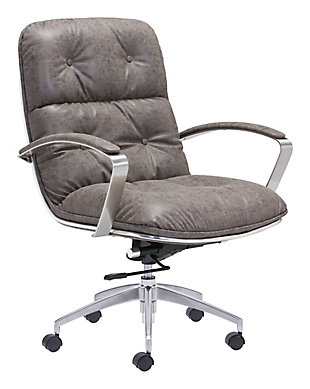 Tufted Button Home Office Chair, , rollover