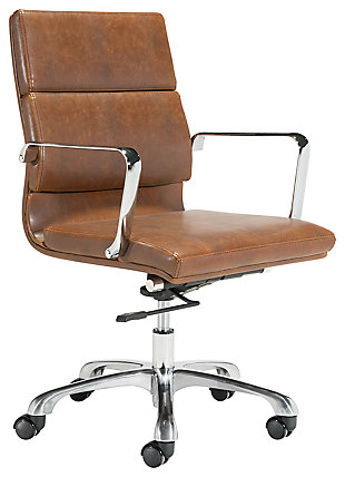 Cushioned Ithaca Home Office Chair, , large