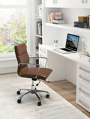 Cushioned Ithaca Home Office Chair, , rollover