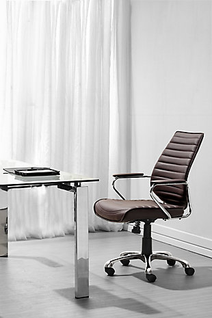 Panel Tufted Enterprise Low Back Home Office Chair, , rollover