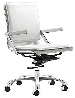 Chrome Finish Ergonomic Home Office Chair, , large