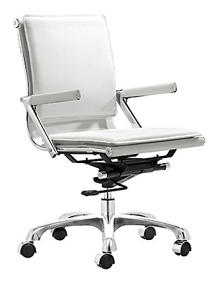 Chrome Finish Ergonomic Home Office Chair, , rollover