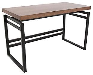 Industrial Desk with Metal Base, , large