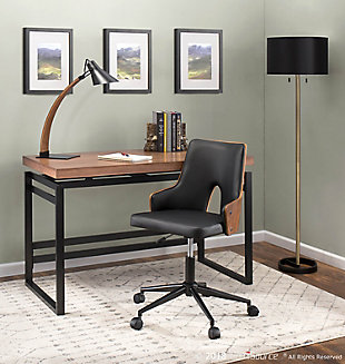 Industrial Desk with Metal Base, , rollover