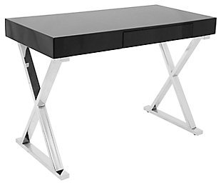Gloss Finish Home Office Desk, , large