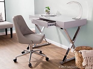 Gloss Finish Home Office Desk, , rollover
