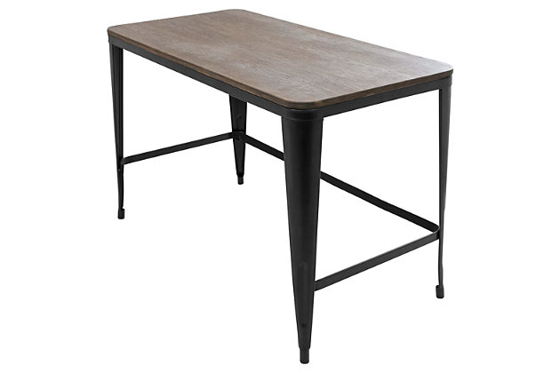 Metal Frame Home Office Desk, , large