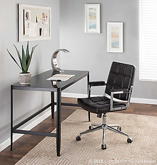 Tufted Home Office Chair, , rollover