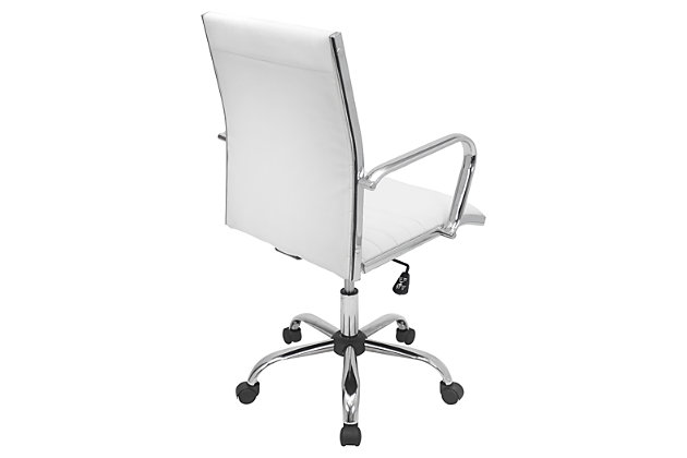 Upholstered Swivel Home Office Chair, , large