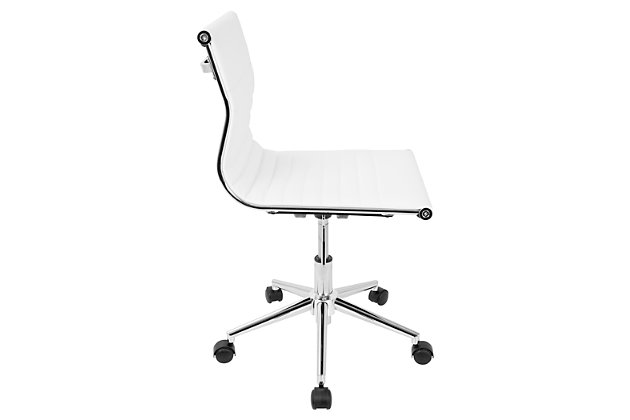Adjustable Faux Leather Home Office Chair, , large