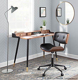 Tufted Swivel Home Office Chair, , rollover