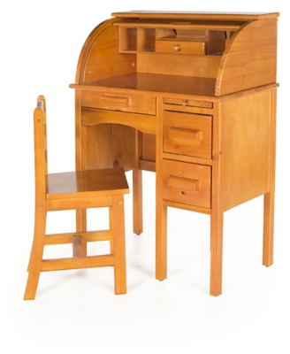 Ashley Home Accents Jr. Roll-Top Desk - Light Oak, Multi
