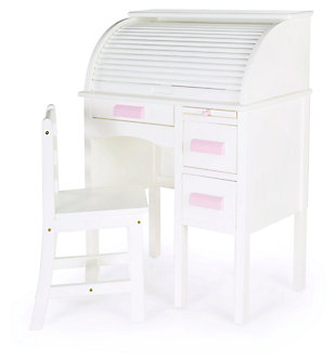 Kids Jr. Roll-Top Desk - White, , large