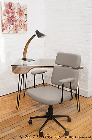 Adjustable Swivel Home Office Chair, , rollover