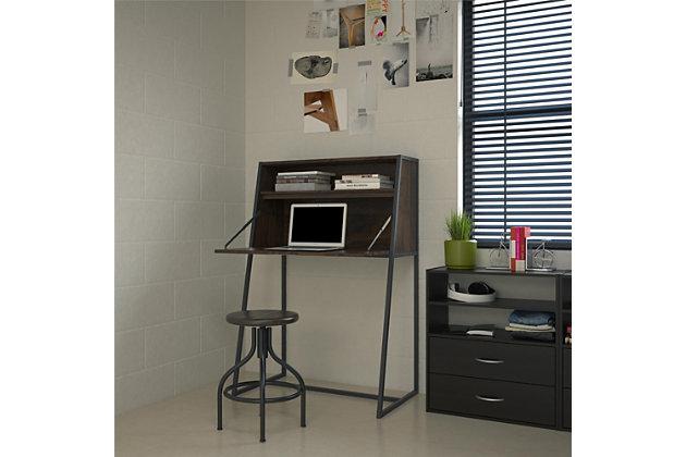 Metal Secretary Desk, , large