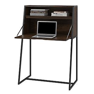 Metal Secretary Desk, , rollover