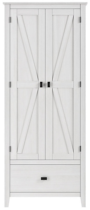 """Rustic 30"""" Wide Storage Cabinet, Ivory, large"""
