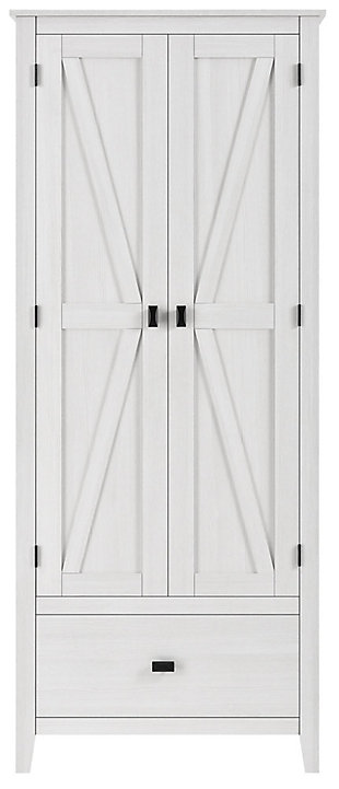 """Rustic 30"""" Wide Storage Cabinet, Ivory, rollover"""