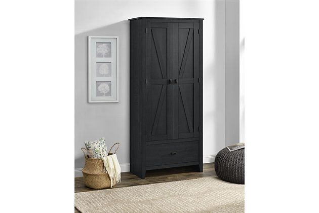 """Rustic 30"""" Wide Storage Cabinet, , large"""