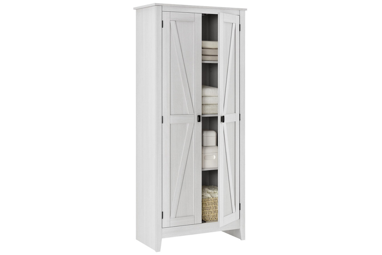 "Ashley Furniture Rustic 31.5"" Wide Storage Cabinet"