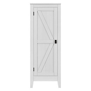Rustic Storage Cabinet, Ivory, rollover