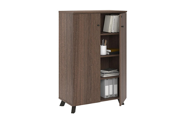 Two Door Storage Cabinet with Shelves, , large
