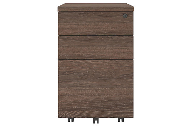 Two Drawer Mobile File Cabinet, , large