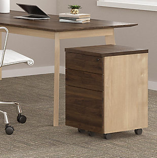 Two Drawer Mobile File Cabinet, , rollover