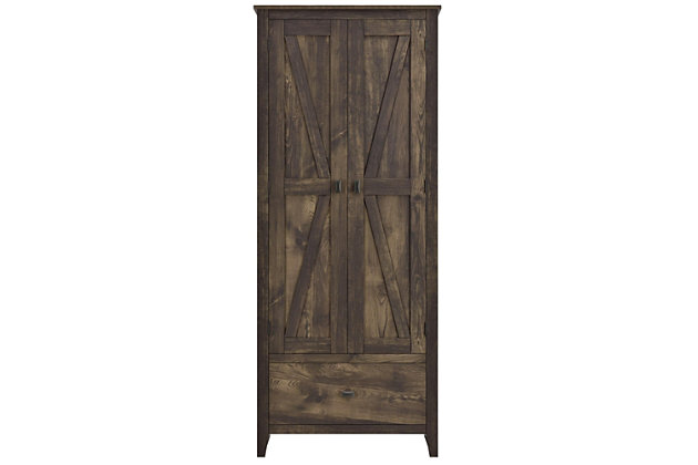 "Rustic 30"" Wide Storage Cabinet, , large"