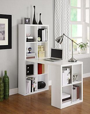 Storage Desk with Cubbies, , large