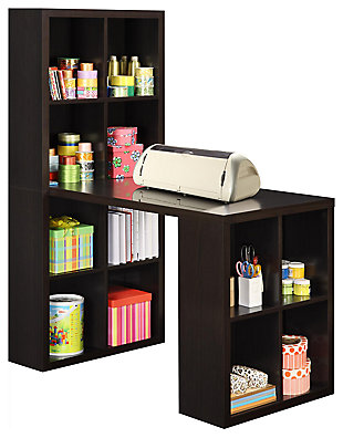 Storage Desk with Cubbies, , large