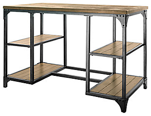 Storage Desk with Shelves, , large