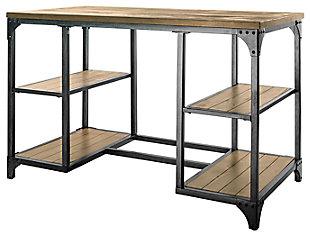 Storage Desk with Shelves, , large