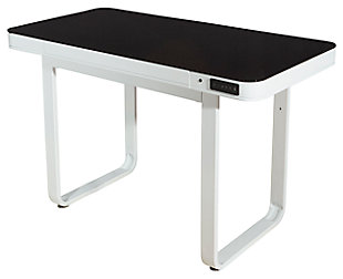 Adjustable Height Desk with USB Port and Speakers, , large