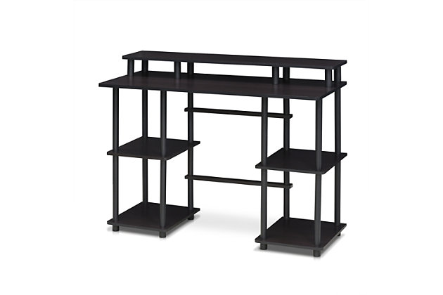 Multipurpose Home Office Desk with Top Shelf, , large