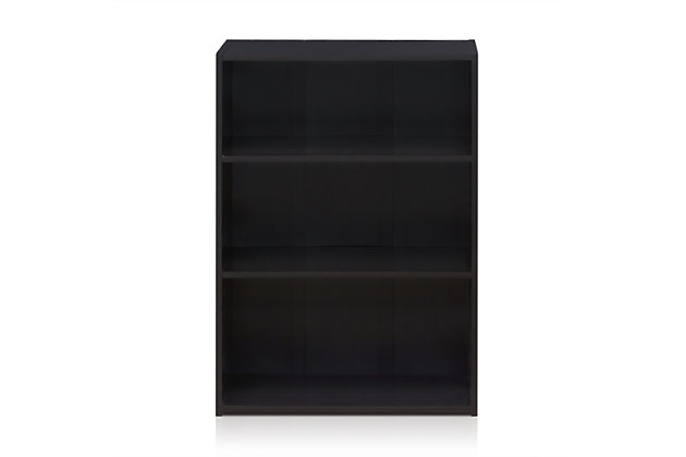 """Three Shelf 35"""" Home Office Bookcase, , large"""