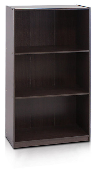 "Three Shelf 40"" Home Office Bookcase, , large"