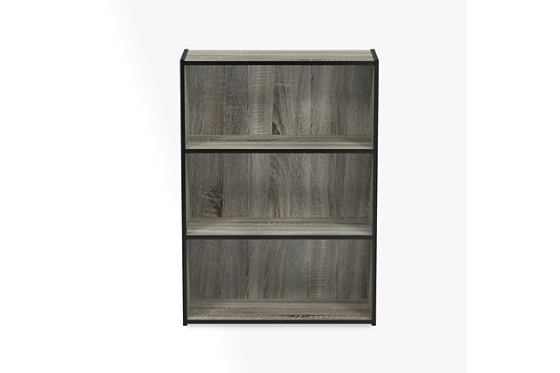 "Three Shelf 32"" Home Office Bookcase, , large"