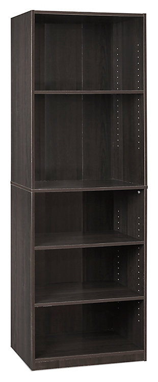 """Five Shelf 71"""" Home Office Bookcase, , large"""