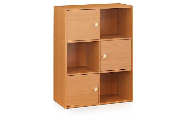 3 Door Bookcase with Shelves, , large